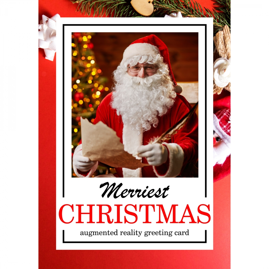 Augmented Reality Christmas Card With Santa Claus